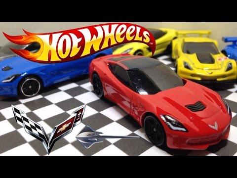 All C7 Corvette Stingrays 14 16 Hotwheels Models Youtube