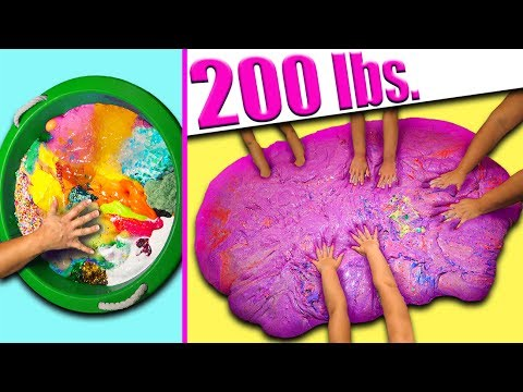 200 lbs of Slime! GIANT SLIME GIVEAWAY! Mixing all my slime!