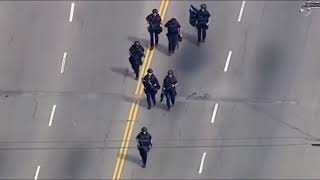 Los Angeles Police Chase Crazy Driver Takes His Life After Standoff