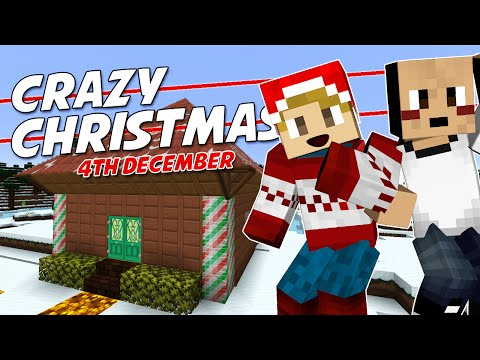 Minecraft - CRAZY CHRISTMAS [4] - SANTA'S GROTTO! (with Tomohawk)