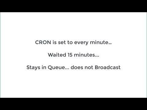 Broadcast Stuck in Queue | WordPress org