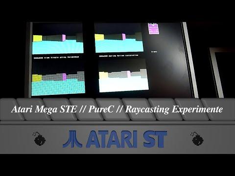 Atari Mega STE // PureC // Raycasting Experimente