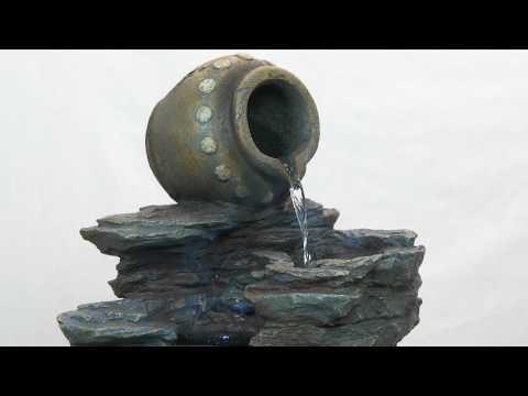 Design Toscano's Spilling Jug Cascading Garden Fountain DW73064