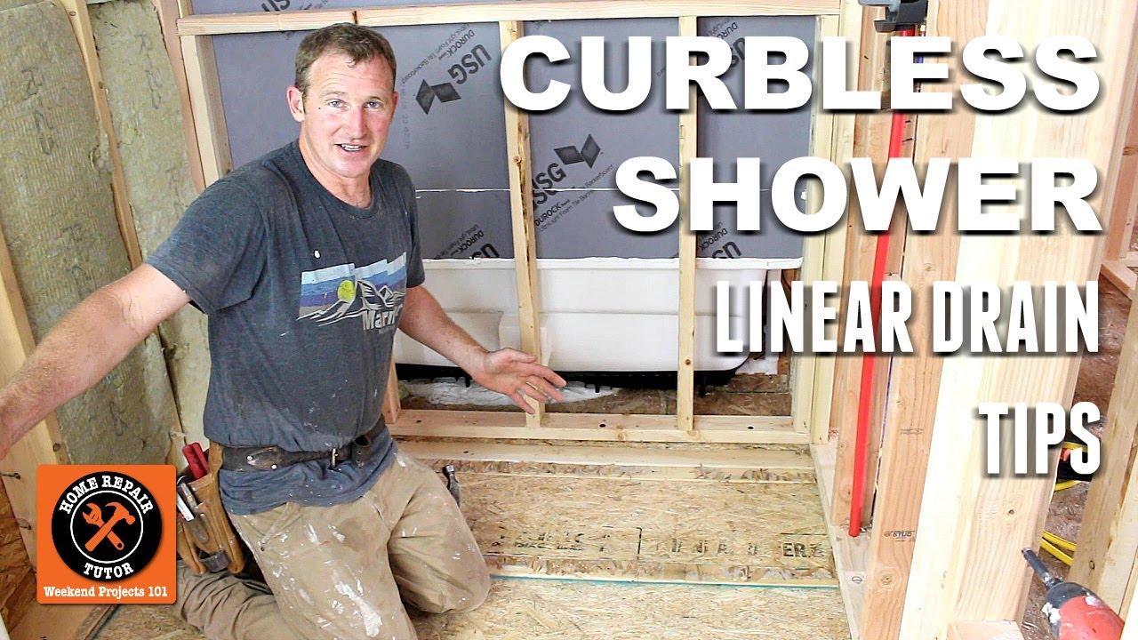 Curbless Shower Pan Planning Schluter Part 1