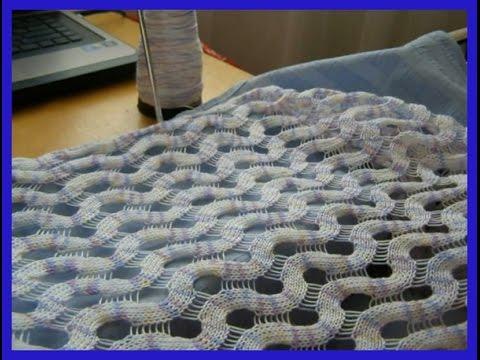 Сетка частичным вязанием