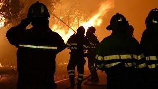 فيديو.. إجلاء أكثر من ألف شخص إثر حريق هائل بإسبانيا