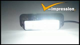 Super Bright White/Amber 4-LED Flash Emergency Hazard Warning Strobe Light Bar
