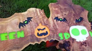 Halloween Spooktacular Carved Wood Sign