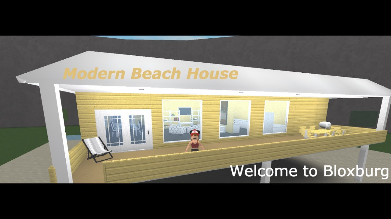 ROBLOX Welcome To Bloxburg Modern Beach House YouTube