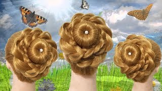 Juda hairstyle for wedding  Perfect Brida 🌸 Bun step by step 🌿🍎 Easy Wedding Hairstyle for party