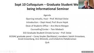 Colloquium: Graduate Student Well-being Informational Seminar