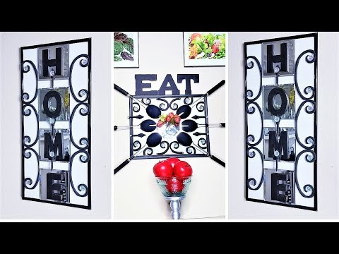 Wall Decor for Homes and Kitchen area with Dollar Tree Items! Home Decor 2019 Ideas!