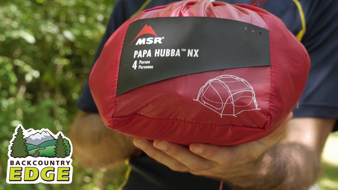 MSR Papa Hubba NX 3-Season Backpacking Tent & MSR Papa Hubba NX 3-Season Backpacking Tent - YouTube