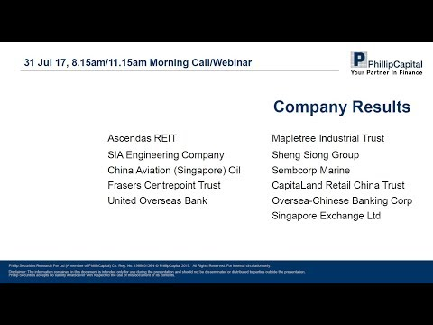 Market Outlook: Q2 Company Results (31 July 2017)