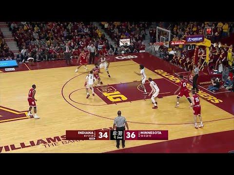 Big Ten Basketball Highlights: Indiana at Minnesota