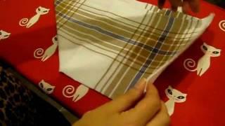 Подгузник своими руками(Как сделать подгузник для грудного ребёнка из марли на примере носового платка., 2011-05-17T17:26:14.000Z)