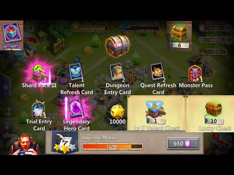 MY Progress 72 Day Free 2 Play Account Explaining My Goals REWARDS Castle Clash F2P