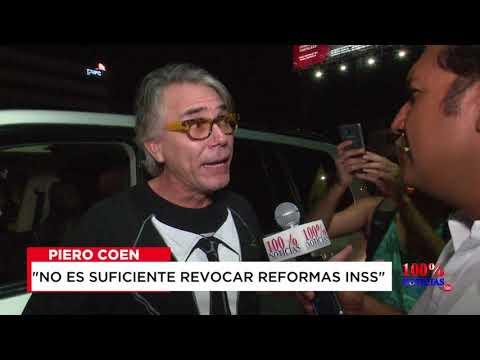 Empresario Piero Coen se une a protesta contra gobierno de Nicaragua