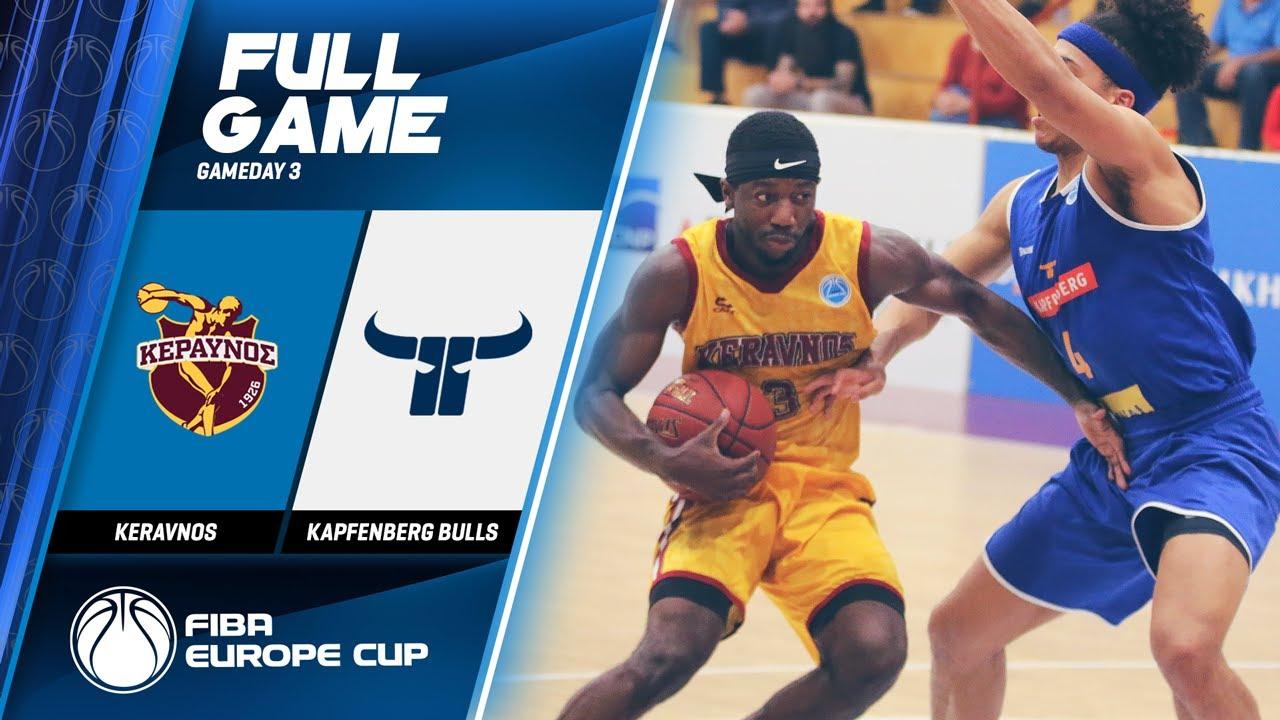 Keravnos v Kapfenberg Bulls - Full Game - FIBA Europe Cup 2019