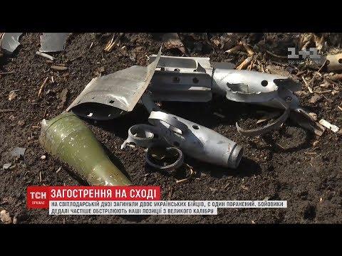 ТСН: Двоє бійців загинули під час ворожого мінометного обстрілу в районі Світлодарської дуги