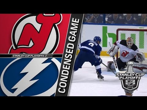 New Jersey Devils vs Tampa Bay Lightning – Apr. 12, 2018 | Game 1 | Stanley Cup 2018. Обзор