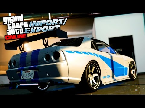 GTA 5 Online Elegy Retro Customization! FAST AND FURIOUS SKYLINE GTR