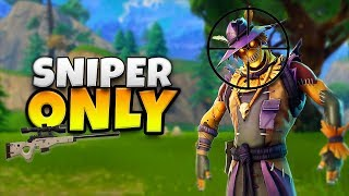 SNIPER ONLY GAME! - FORTNITE BATTLE ROYALE