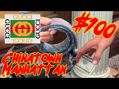 Shopping for Dank food and Counterfeit GUCCI in NYC's Chinatown