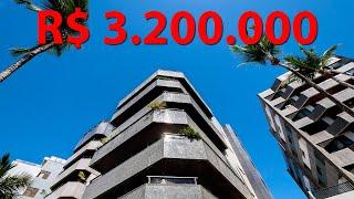 Tour pelo apartamento alto padrão com vista mar em Rio Vermelho - Salvador | 4k + Drone
