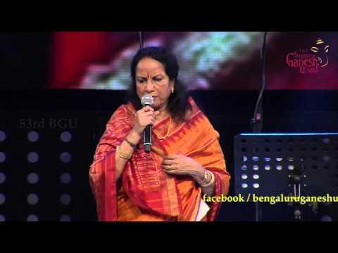 """""""Bole Re Papihara"""" song by Vani Jairam @ 53rd Bengaluru Ganesh Utsava..!!!"""