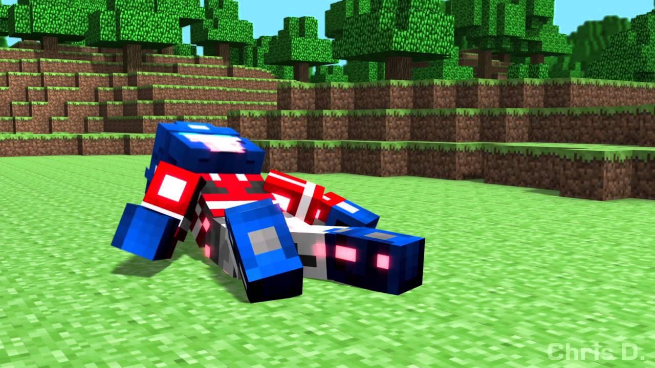 Minecraft Optimus Prime Vs Megatron Enhanced Youtube