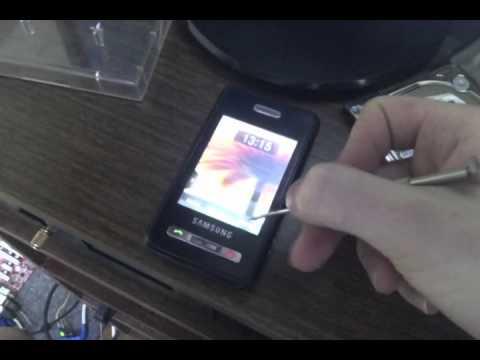 Один из первых сенсорных телефонов SAMSUNG -- SGH-D980