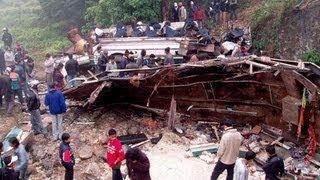 Крупное ДТП в Боливии, 20 чел. погибли 25.01.2013(25.01.2013 В Боливии пассажирский автобус упал с обрыва, погибли больше 20 человек. Еще около 30 пострадали. В наст..., 2013-01-25T00:40:36.000Z)