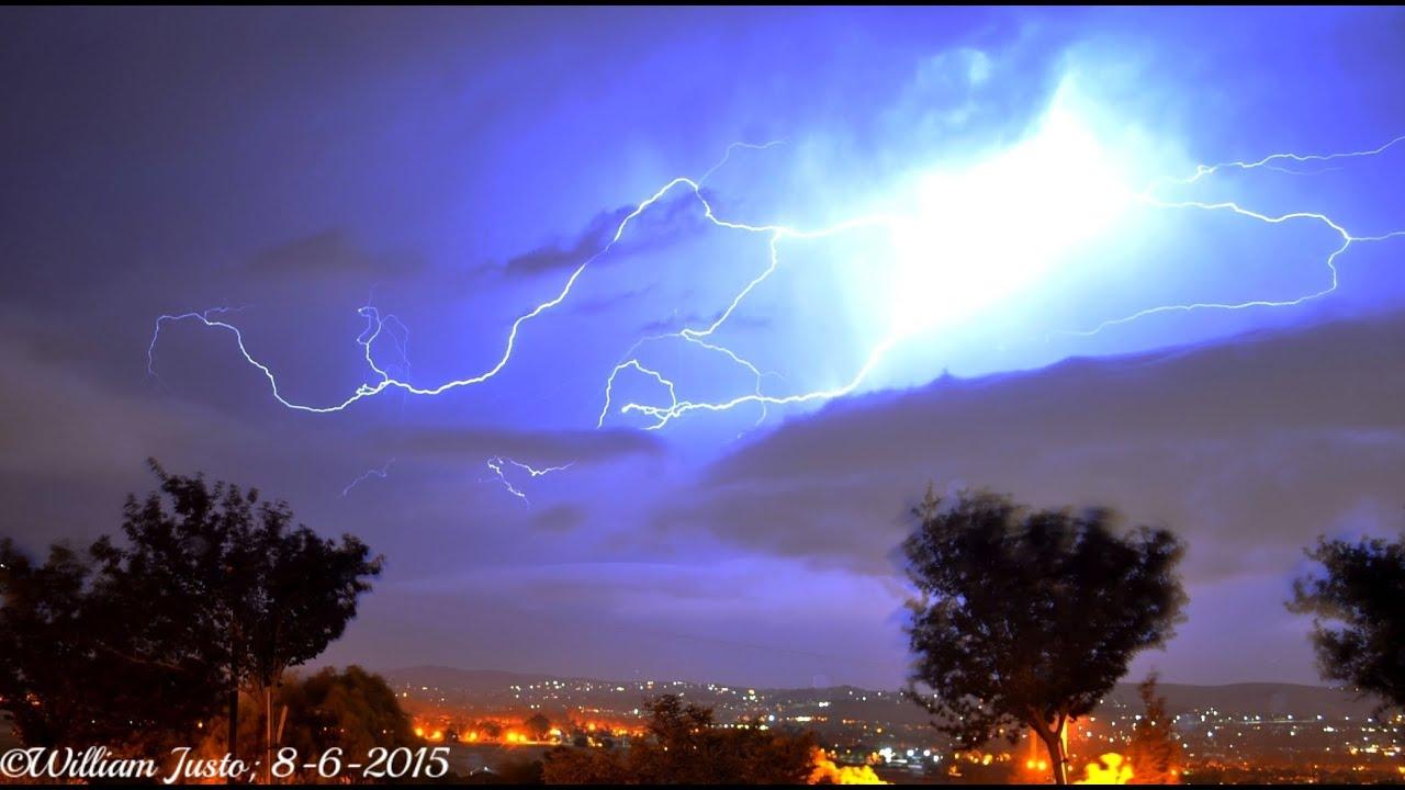 Rare Lightning Storm Over San Jose, CA! (8-6-15) - YouTube