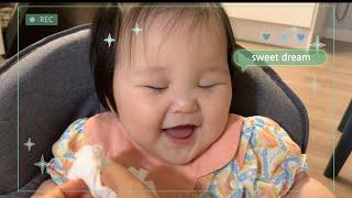 6개월 아기 잠과의 사투/   이유식 + 잠, 계란 알…
