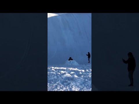 Tanner and Drew - Killer Back Flip On a Snow Sled