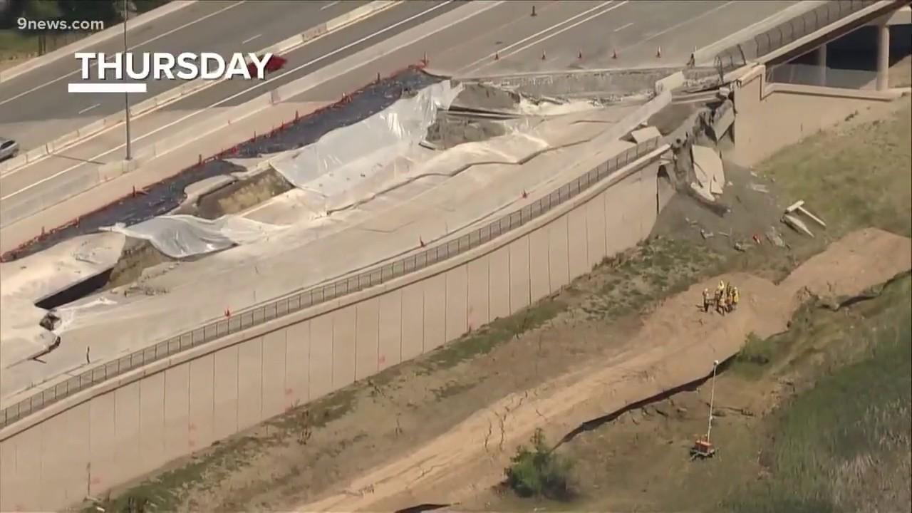 A week after lanes first closed, US 36 in Colorado is still sinking