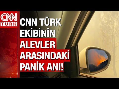 CNN Türk ekibi Antalya'da yangının ortasında kaldı! İşte o zor anlar