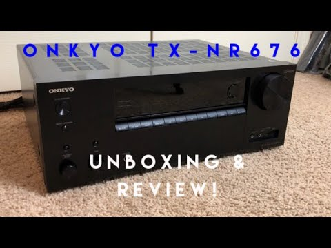 Onkyo TX-NR676 Reciever Unboxing And Review!
