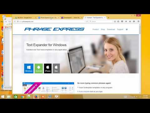 Phrase Express - Text Expansion For Windows