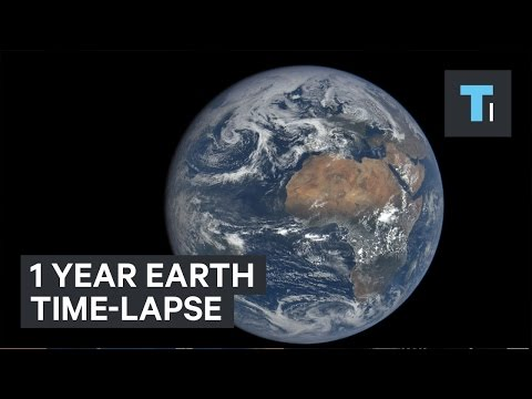 1 year Earth time-lapse