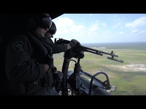 Marines Close Air Support With Attack Helicopters
