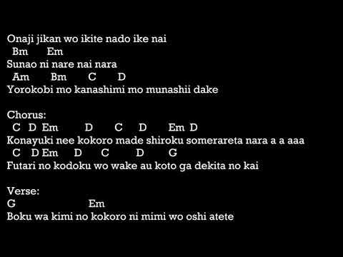 Konayuki Remioromen Chord lyric