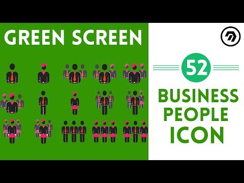 52 Green Screen Business people Icon | mrstheboss