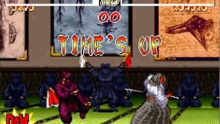 Samurai Shodown 2 MASTER LEVEL 8 Ukyo vs Kuroko