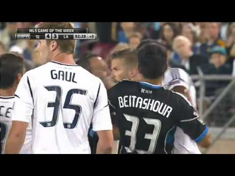 David Beckham fights with San Jose and Mascot