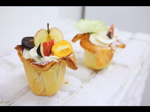 Фруктовая корзинка из теста Фило / Fruit Phyllo Cups - YouTube
