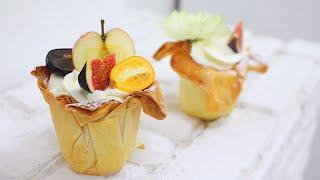 Фруктовая корзинка из теста Фило / Fruit Phyllo Cups(Магазин, в котором мы покупаем весь свой инвентарь http://vtk-moscow.ru/ ПРОМОКОД