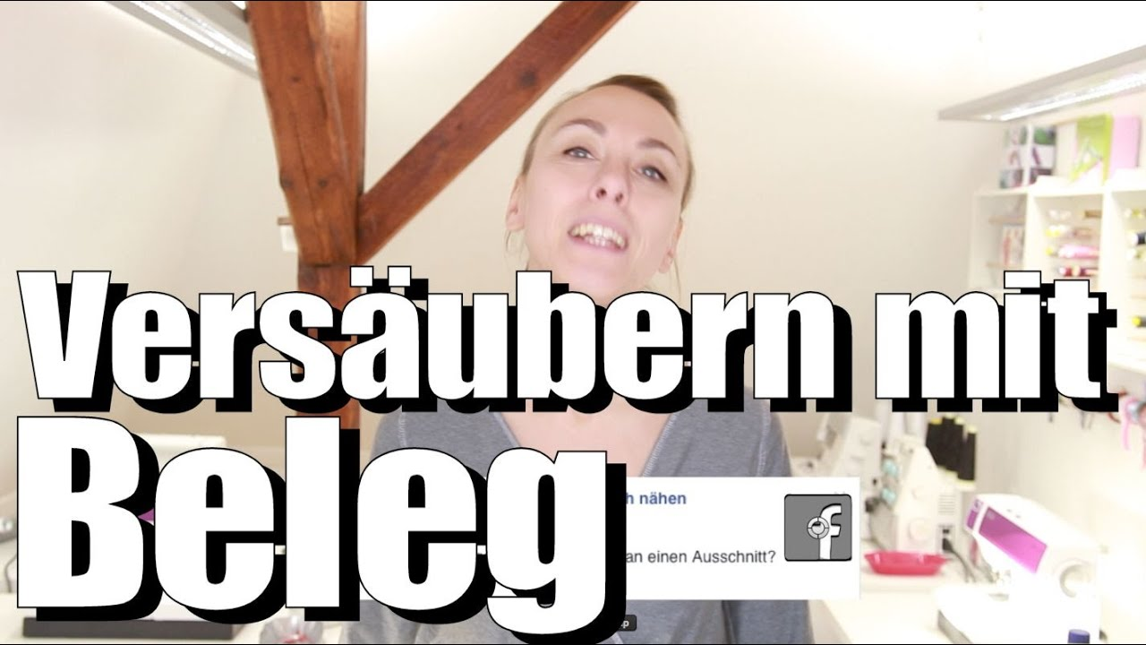 ausschnitt mit beleg vers ubern mit anna von einfach n hen youtube. Black Bedroom Furniture Sets. Home Design Ideas