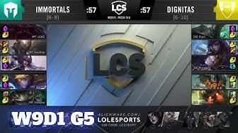 Immortals vs Dignitas | Week 9 Day 1 S10 LCS Spring 2020 | IMT vs DIG W9D1